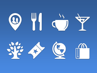 Nearby Places Category Iconography