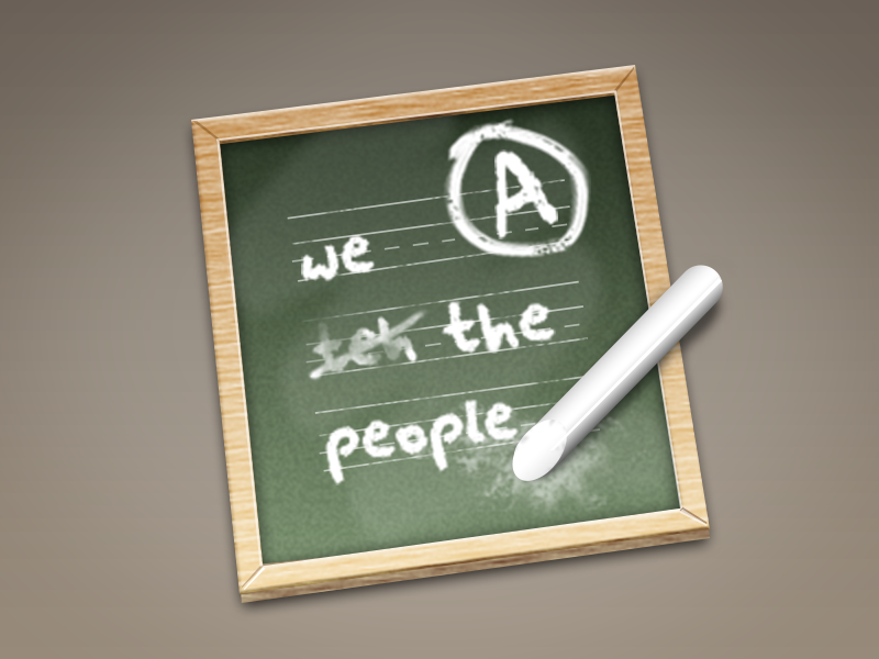 Amendment Icon mac spell check 2006 icon chalk board wood amendment spelling