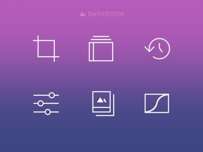 Darkroom in app icons