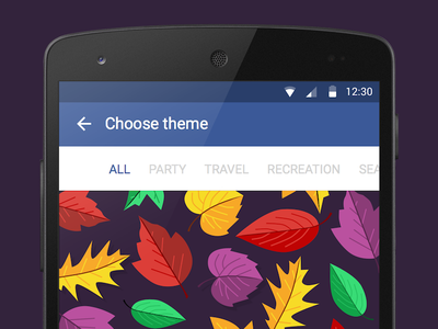 Facebook Event Themes balloons gifts leaves flower theme event facebook