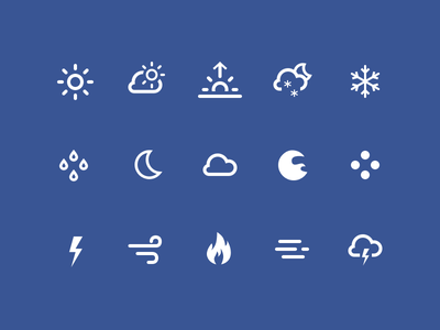 Weather Icons rain moon sun cloud icons weather