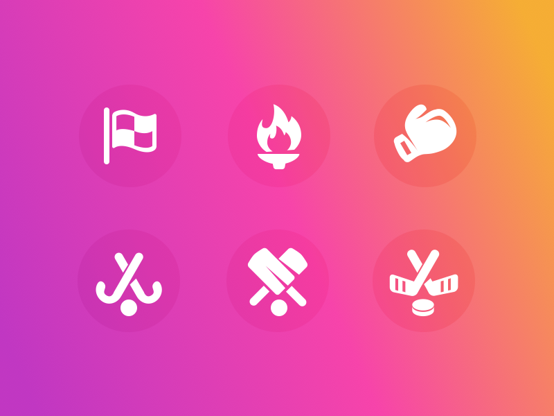 Facebook Sports Category Icons category cricket hockey boxing olympics flag sports facebook