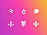 Facebook Sports Category Icons