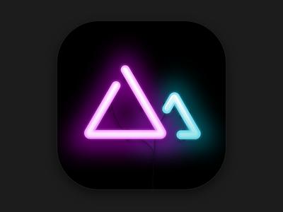 Darkroom 3.0 App Icon icon app neon darkroom