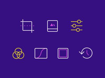 Darkroom 3.6 Tool Icons
