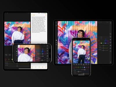 Darkroom 4 Responsive UI responsive design app darkroom