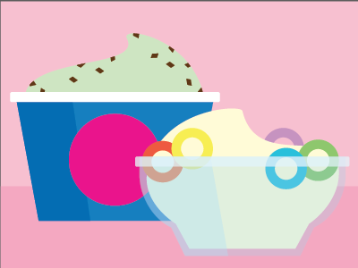 Ice Cream  fruit loops mint chip ice cream illustrator