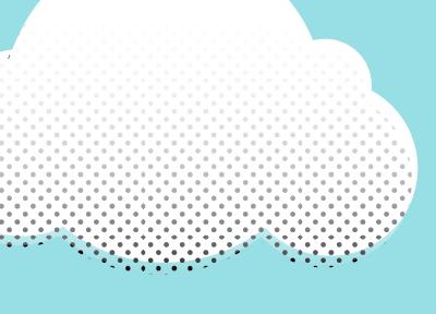 just a cloud cloud illustration dots