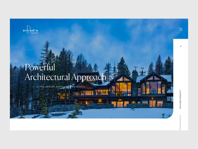 Header Animation for Luxurious Window & Door Brand light minimal website animation windows luxury interface interaction header concept typography after effects ux ui web animation website motion