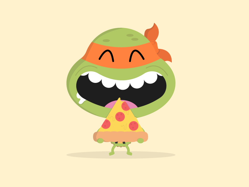 TMNT Mikey Pizza Party by Jerome Gaston on Dribbble