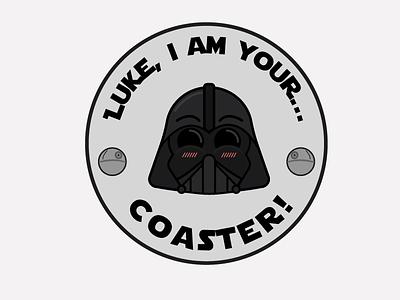 Darth Vader Head Coaster stickermule skywalker space lightsaber coaster starwars darthvader