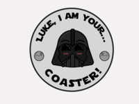 Darth Vader Head Coaster