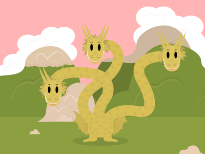 Famous Kaiju And Where To Find Them: King Ghidorah dragon drawing sketch ghidorah king monster godzilla