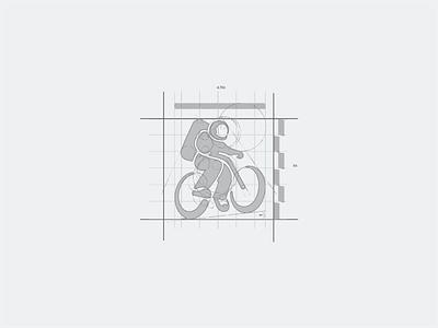 rocketbike identity rocketbike digital agency bicycle astronaut symbol illustration identity vector logo branding design futurecommanddesignoffice