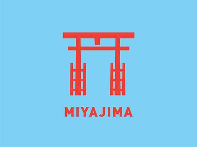 Miyajima Otorii miyajima shrine buddhism otorii vector illustration logo futurecommanddesignoffice design hiroshima