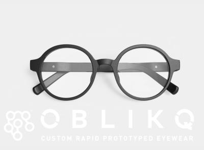OBLIKQ Eyewear glasses rapid prototyping 3d printed eyewear 3d printed eyewear eyewear identity logo typography branding hiroshima design japan futurecommanddesignoffice