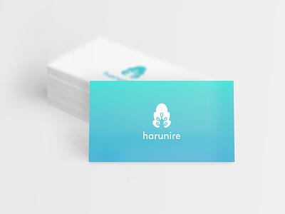 harurine   logo for data analytic company cloud tree logo logotype symbol