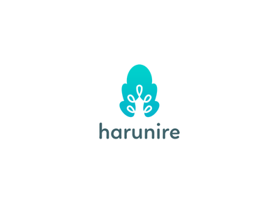 harurine   logo for data analytic company symbol logotype logo tree cloud