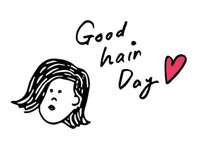 Good hair day illustration portait doodle goodhair hair