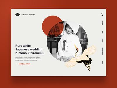 Kimono Rental website webdesigner uiux web webdesign minimal clean interface branding brand landingpage kimono