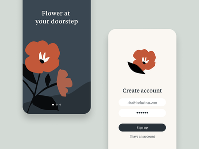 Sign Up - Day 01 #DailyUI 🌷 flower illustration illustraion subscription flowers dailyuichallenge typeface font tiempos flower logo icon dailyui ui signup dailyui 001