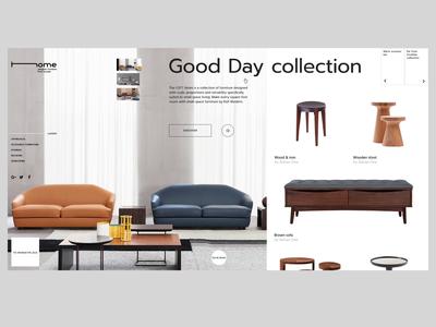 Home_slider mechanics after effect furniture landing interaction webdesign ux ui clean banner animation