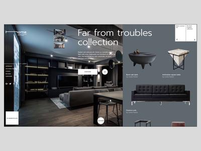 Home_approach stage e-commerce after effect webdesign landing furniture minimal evne ux ui design animation