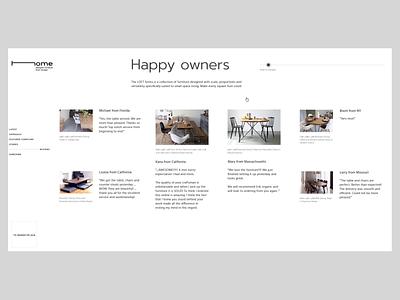 Home_reviews & subscribe interaction ux ui liquidmotion liquid landing furniture designer clean animation web design