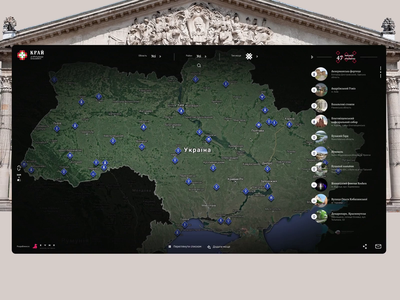 Krai_list ukraine ux ui tourism showplace web design map list history evne animation ancient