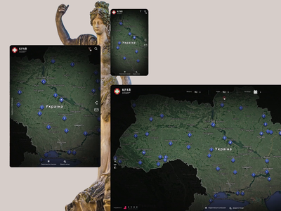 Krai_search web design ukraine ux ui tourism showplace map history evne animation after effects