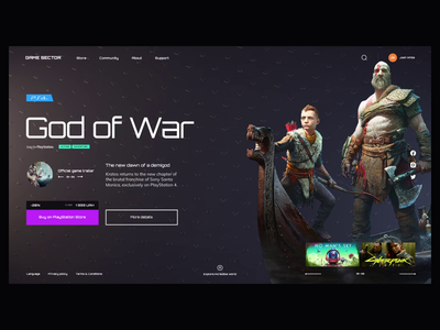 Game Sector pattern portal games gaming cloner ux ui web design c4d bakground animation 3d