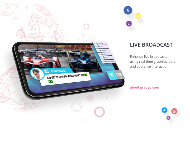 Grabyo Live broadcast, simply faster. interaction design graphicdesign live streaming mobile web design ui