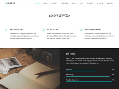 Glamour creative html css sketch