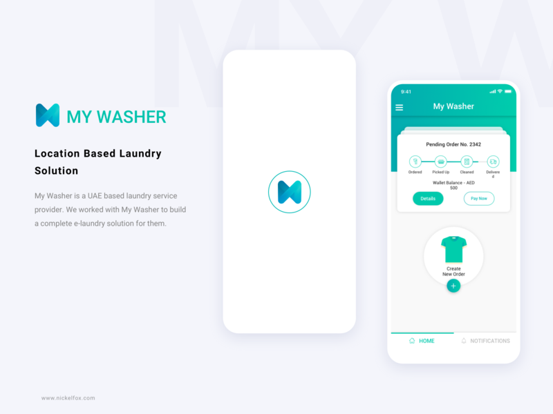 My Washer logo best clear minimal clean timeline card washing laundry web illustration app design ux ui icons design iphone app android ios