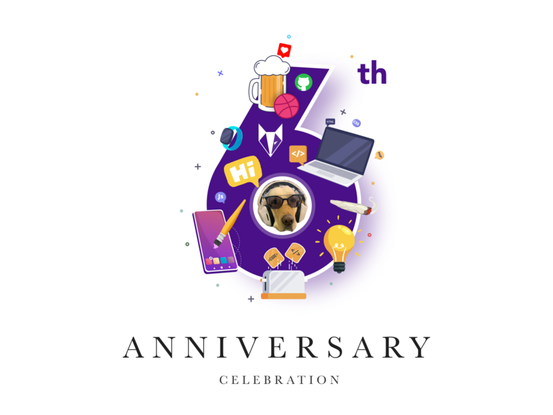 Nickelfox - 6th Anniversary awesome moments family teamwork team 2020 celebration company anniversary logo animation website illustration app design ux ui iphone android ios design