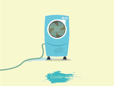 Cooler weather temperature hot heat india water cooler icon set illustration 2d water cooler icon