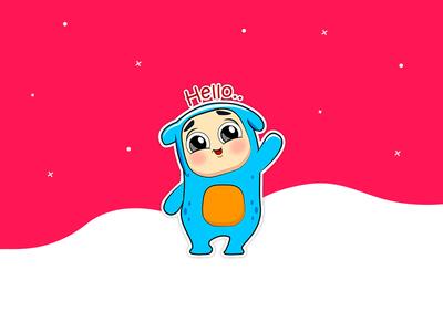 Meet Dodu hello cartoons icon sticker pack ios app store design challenge stickers 2d character