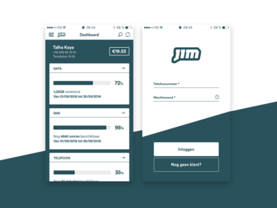 JIM Mobile Redesign Project + Wireframing & UX ui ux minimalistic app redesign mobile jim