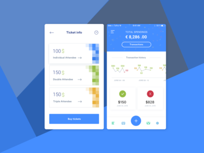 Ticket & Dashboard Overview UI user experience user interface mobile app dashboard ux ui