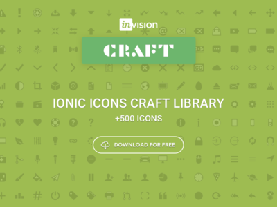Craft Library: Ionic Icons +700 for Sketch android ios app webdesign ux ui template free download sketch icons ionic