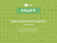 Craft Library: Ionic Icons +700 for Sketch
