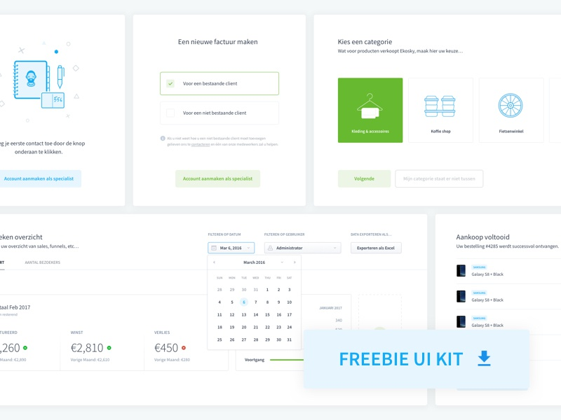 Download (FREEBIE) Dashboard UI Elements Kit #1