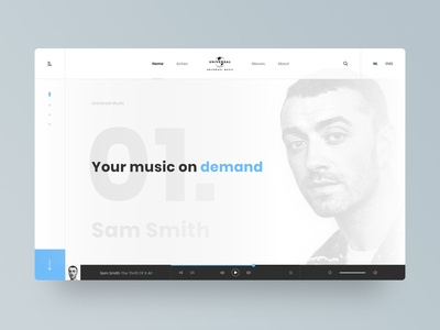 Homepage concept - Universal Music Group