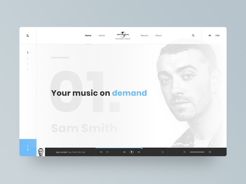 Homepage concept - Universal Music Group inspiration homepage design ux web branding website concept header homepage website design minimal ui  ux design ui ui  ux