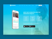 R.Gen App Landing Page