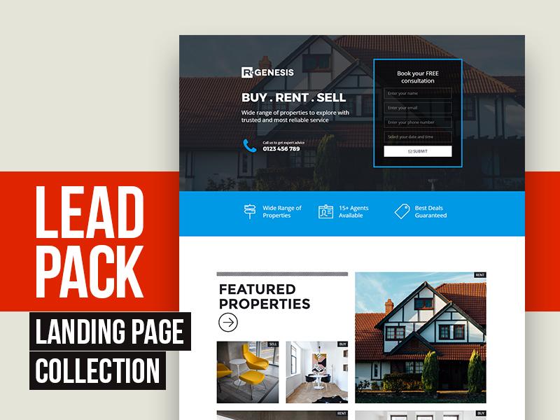 LeadPack lead page agency real estate web product app landing leadpack