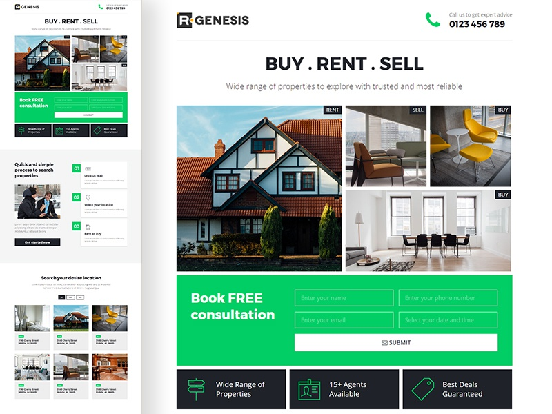 LeadPack website one page lead page agency real estate web product app landing leadpack