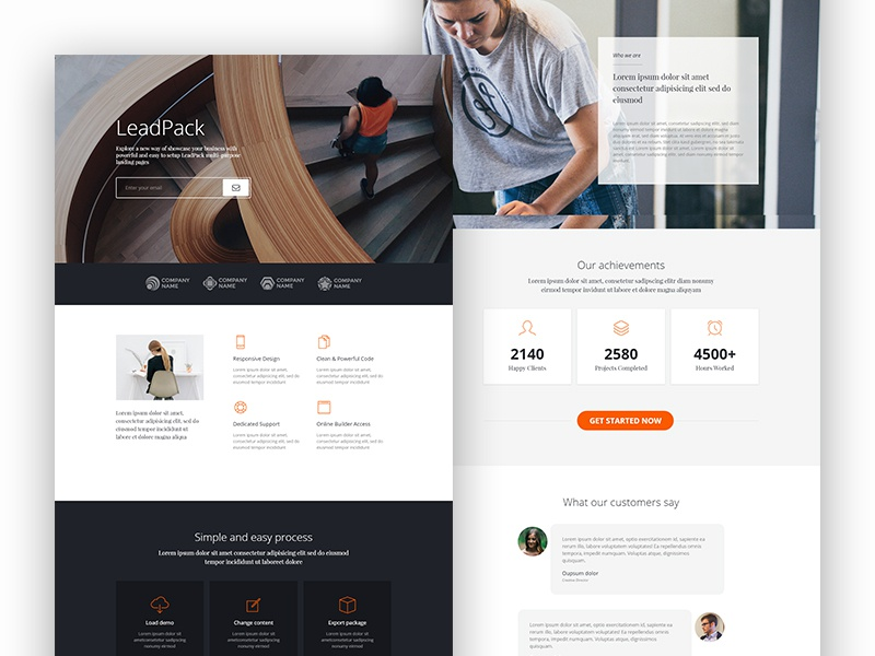 LeadPack - Business landing page landing page one page lead page business web product app landing leadpack