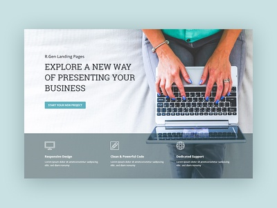 RGen startup landing pages lead page template web one page landing page rgen startup web page