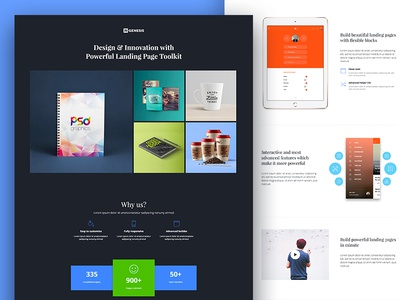 Startup landing pages